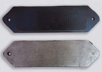 Berubbering metalen steun - rubber en metaal