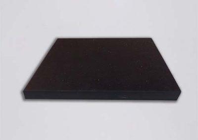 NR SBR 65 SH A 125 X 125 X 10 mm - rubber vormstukken op maat