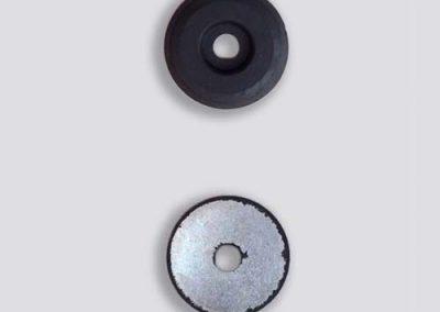 Stootblok rubber + metaal