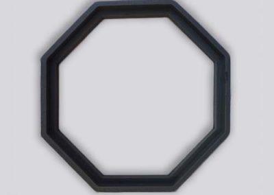 Grijze dichtig vorm diamant rubber