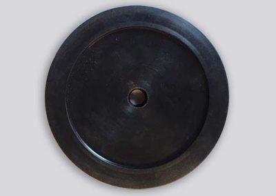 Rubber zwarte schijf - vormstukken
