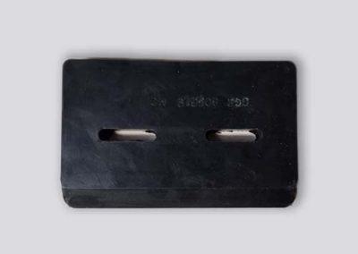Schraper gemaakt in gevulkaniseerd rubber - Tenax